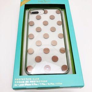 Kate Spade NWT 6 6s 7 8 Plus Polka Dot Iphone Case